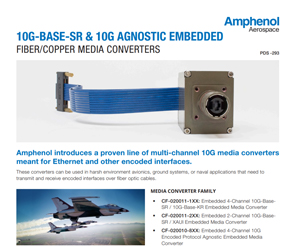Document 10G-BASE-SR & 10G Agnostic Embedded Fiber/Copper Media Converters