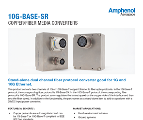 Document 10G-Base-SR Copper/Fiber Media Converters