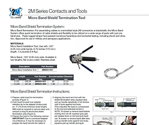 Document 2M Micro Band Shield Termination Tool