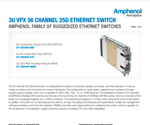 Document 3U VPX 56 Channel 25G Ethernet Switch