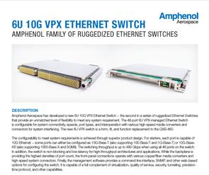 Document 6U 10G VPX Ethernet Switch