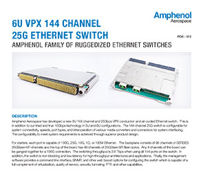 Document 6U VPX 144 Channel 25G Ethernet Switch