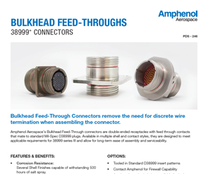 Document Bulkhead Feed-throughs Data Sheet