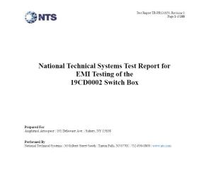 Document EMI Test Report