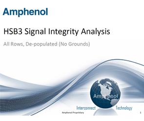 Document HSB3 Signal Integrity Analysis