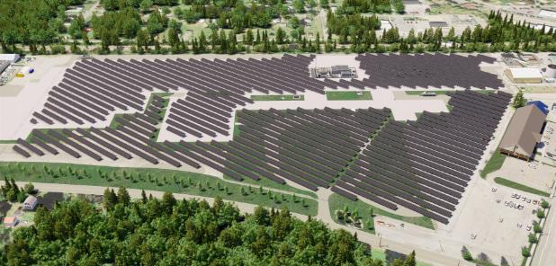 Amphenol Solar Farm model